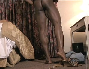 Beautiful ebony female bodybuilder Shelly Fields is showing off her strong body in her hotel room. Shelly's powerful presence fills the room and every frame of this video. From her ripped abs, to the soles of her sexy feet we get to see every inch of the true ebony goddess.