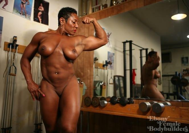 Are Naked black female bodybuilder