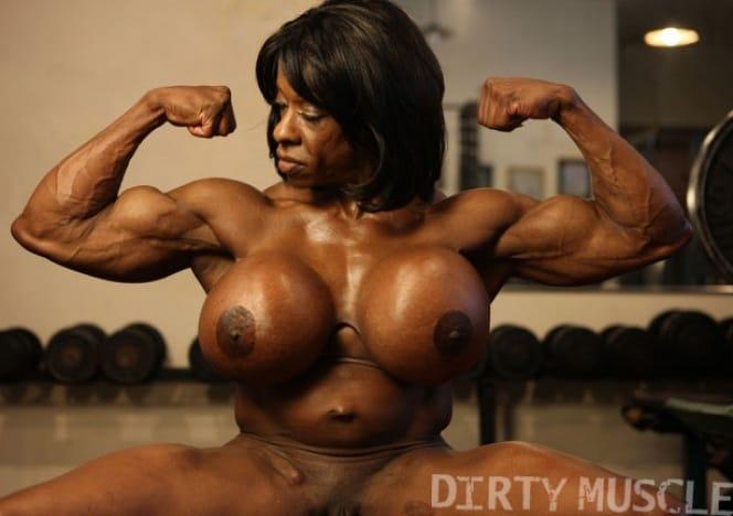 Brandi flexing those big muscle tits of hers 10